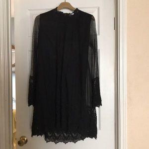 Black Volcom Ace Dress